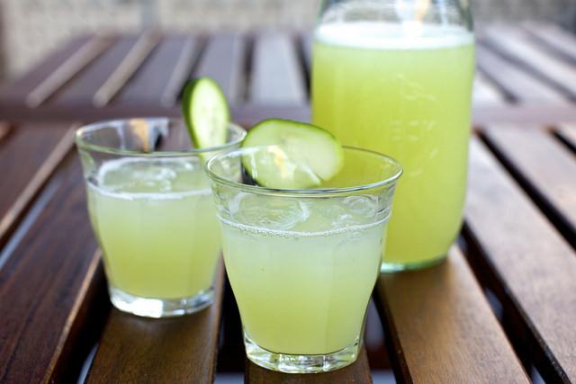 Refreshing Cucumber Lemonade #drink #lemonade