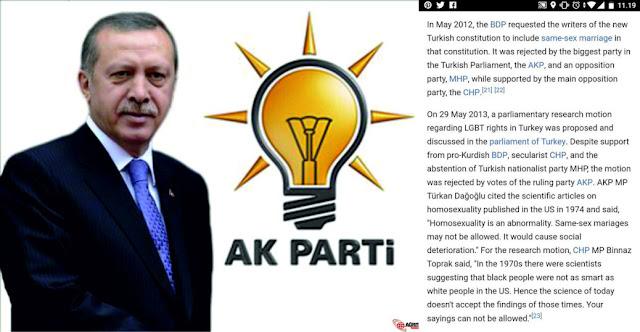 Usulan LGBT Masuk Konstitusi Turki Digagalkan Partainya Erdogan, Inilah Pentingnya Kekuasaan