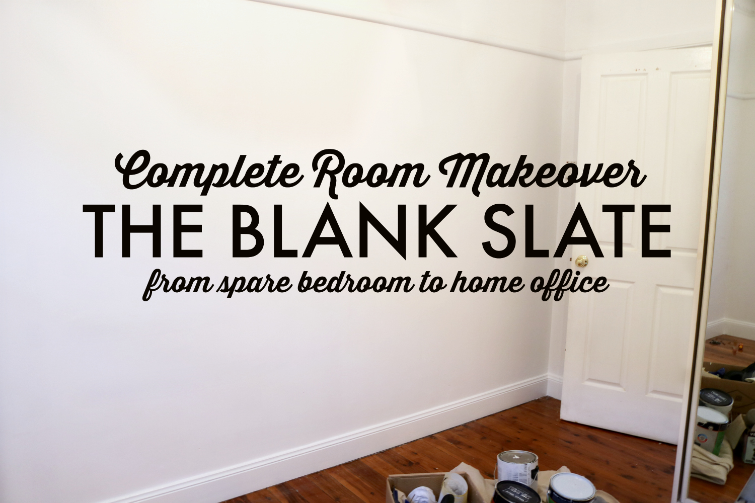 Nice Complete Room Makeover From Spare Bedroom to Home Office The Blank Slate Ready to