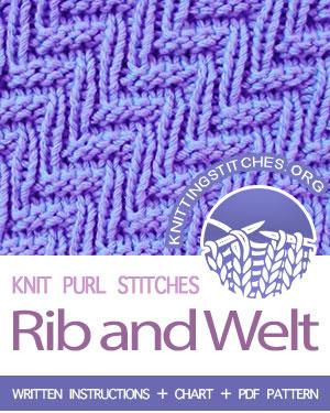 a1c5312b8a0 Rib and Welt - Knitting Stitches
