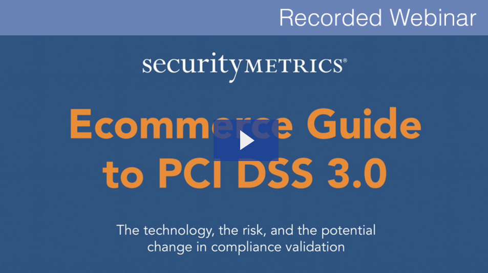 Ecommerce guide to PCI 3.0 webinar