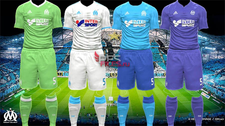 PES 2017 Olympique Marseille 17/18 kits by Egor_7