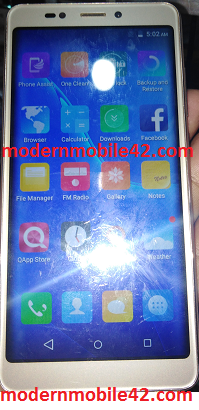 qmobile infinity e flash file cm2