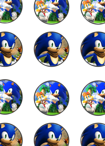 Daisy Celebrates Sonic Birthday Party Printable Files