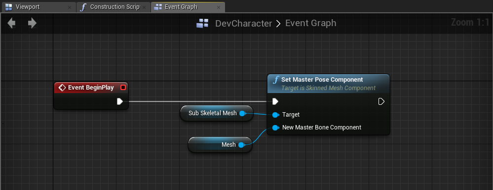 Render skeletal mesh with different materials  | Game Engine