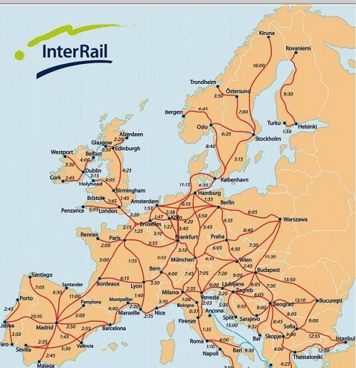 karta tåg europa Familjen Einarsson på tågäventyr i Europa: Kartor över  karta tåg europa
