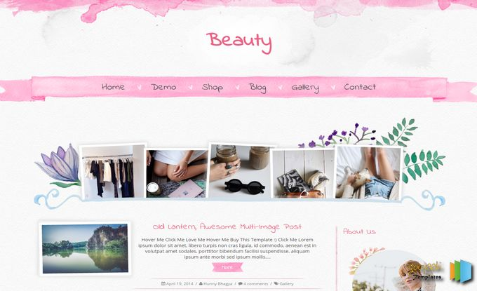 Beauty Responsive Photoshot Gallery Blogger Template