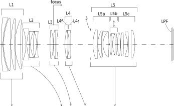 Оптическая схема из нового патента компании Sigma