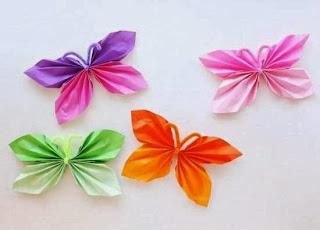 Cara Membuat Kerajinan Tangan Sederhana, Kupu-kupu Kertas