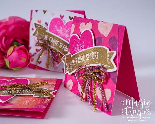 Carte de la St-Valentin Stampin'Up! faite avec le jeu Je t'aime si fort