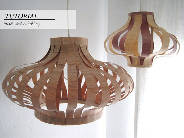 Best Of Diys Veneer Pendant Lighting Poppytalk