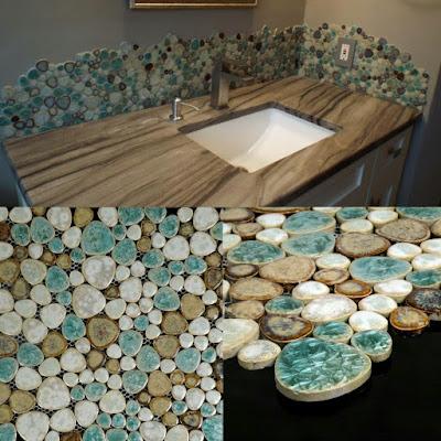 porcelain tile pebbles random bricks glazed ceramic mosaic pebble tiles bathroom backsplash