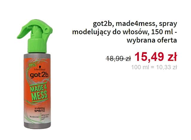 got2b, spray modelujący do włosów