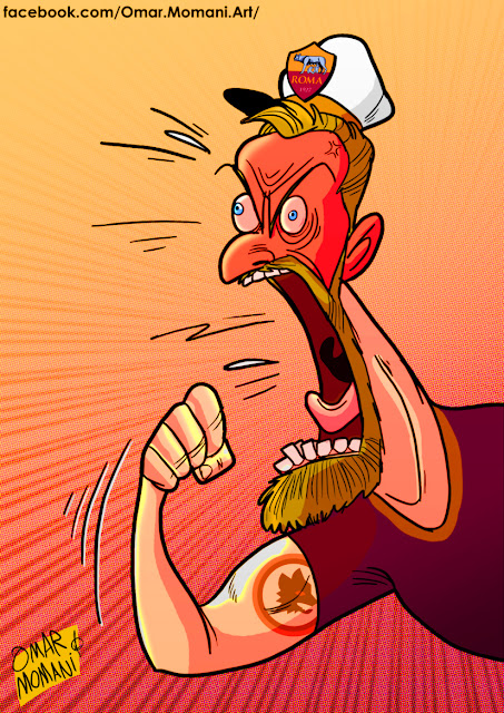 Daniele De Rossi cartoon caricature