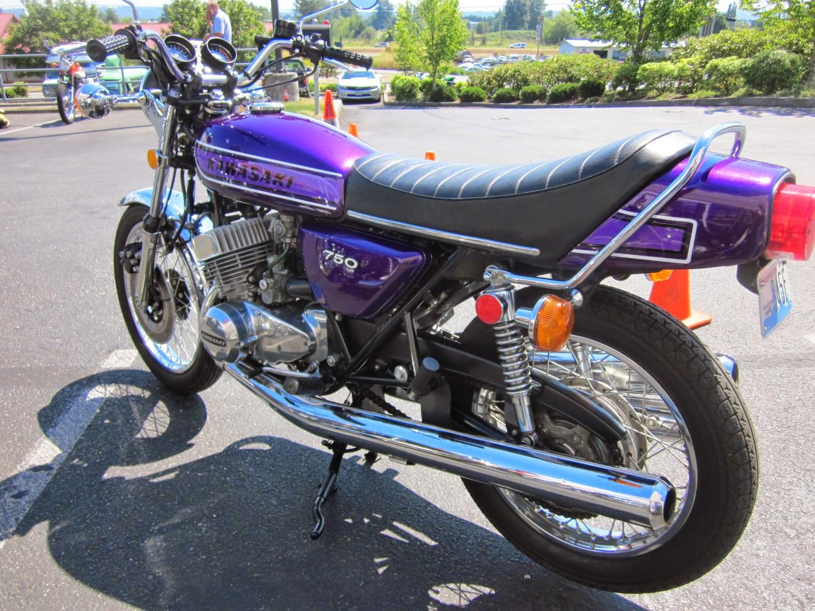 OldMotoDude: 1974 Kawasaki H2 750 Triple on display at the 2014 VJMC