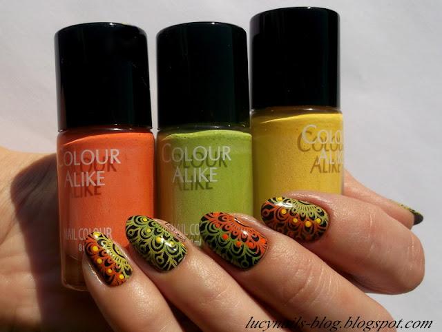 Lakiery do stempli Colour Alike : Sunshine, Fresh Mojito, Juicy Tangerine