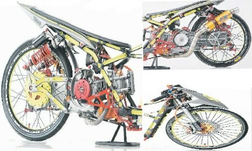 Modifikasi Motor Yamaha Mio Drag Kontes