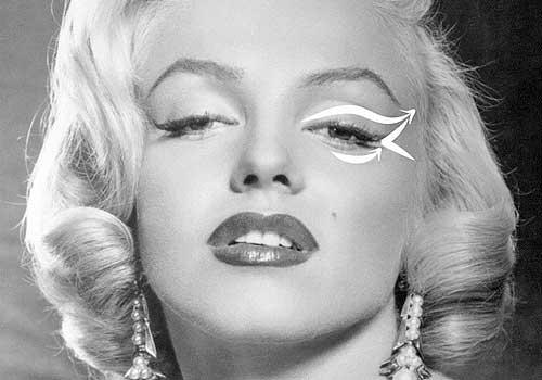 Maquillaje de ojos de Marilyn Monroe