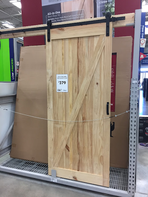 sliding barn doors at Lowe's and Home Depot