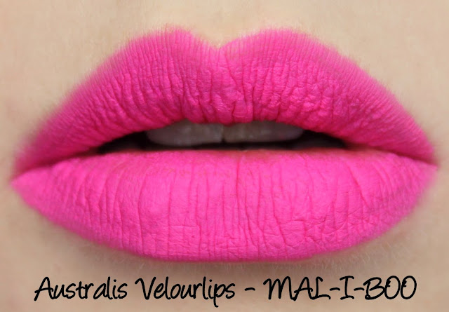 Australis Velourlips Matte Lip Cream - MAL-I-BOO Swatches & Review