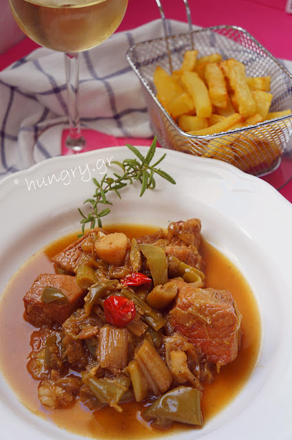 Pan-fried Pork with Leek (Prasotigania)