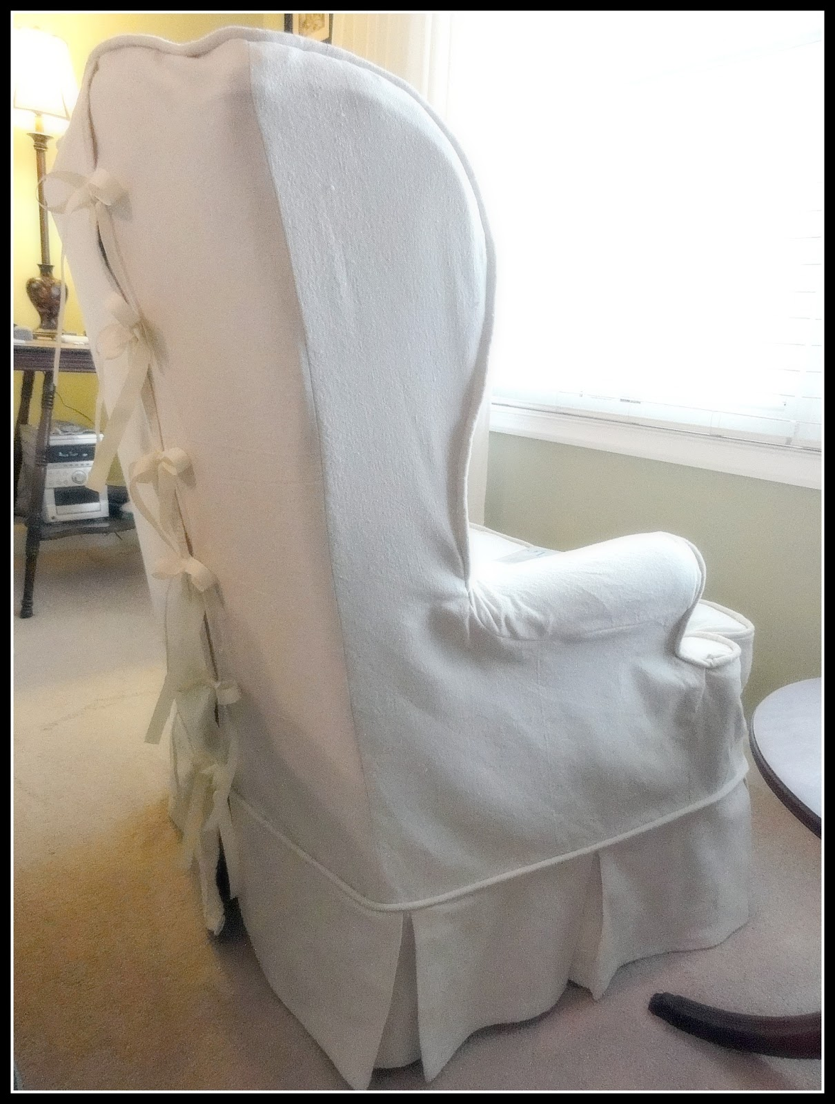 Elegant Christmas Chair Covers Time Out Ideas The Empty Nest How To Slipcover A Bullet Hole
