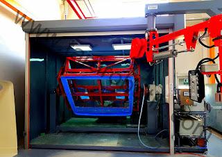 polimer elyaf fiber kesme trimleme delik delme robotu