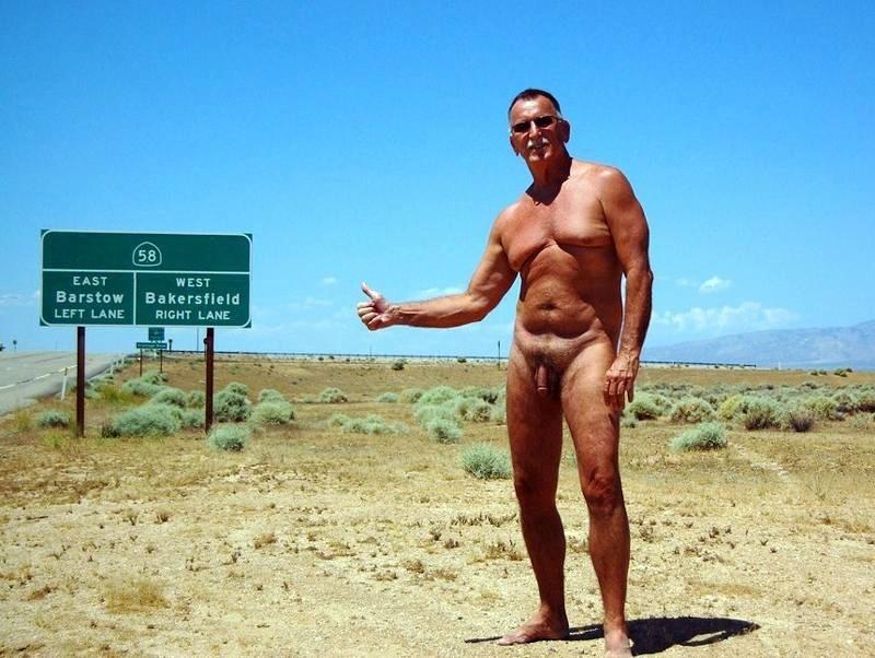 Porno naked men hitch hiking