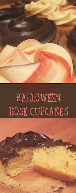 Halloween Rose Cupcakes