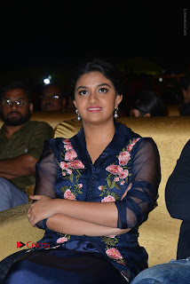 Actress Keerthi Suresh Stills in Blue Long Dress at Nenu Local Audio Launch  0038.JPG