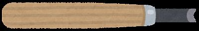 彫刻刀のイラスト(丸刀)