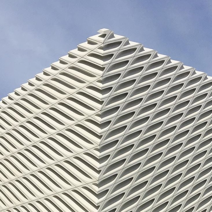 The Broad in DTLA,, a contemporary art museum founded by philanthropists Eli and Edythe Broad.