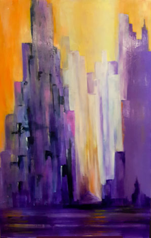 election abstract painting pat calabro