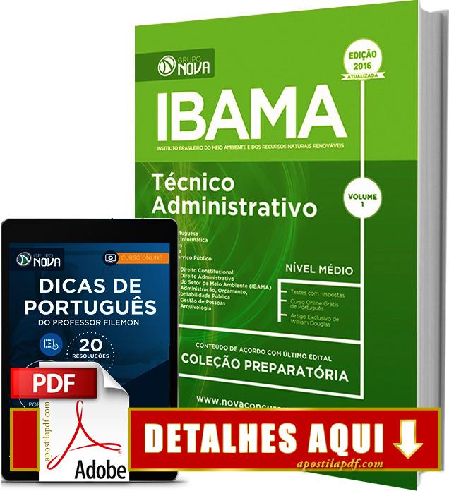 Apostila Ibama 2016 Técnico Administrativo Impressa