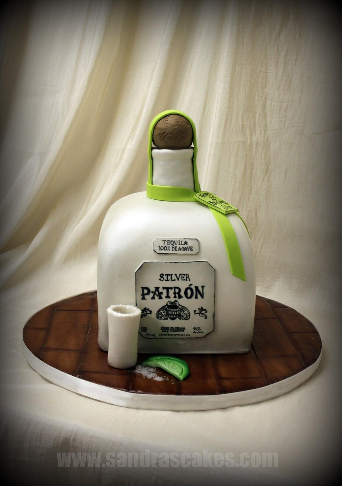 On Birthday Cakes Patron Bottle Cake