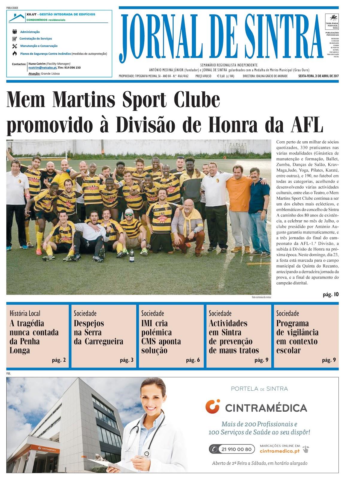 Capa da edição de 21-04-2017