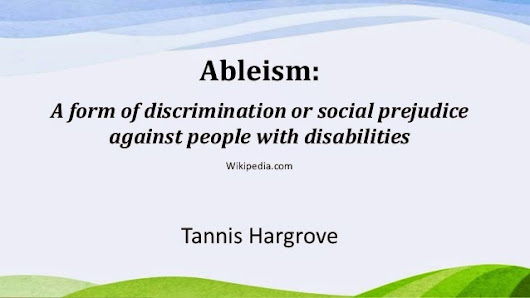 Accessing Your Ableism: The Fascinating Way in which Ableism Affects Our Perceptions of Sex and Disability.