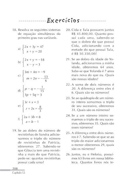 Equações e inequações do 1o grau