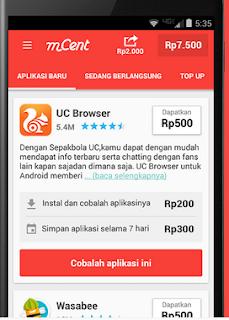 Aplikasi mCent