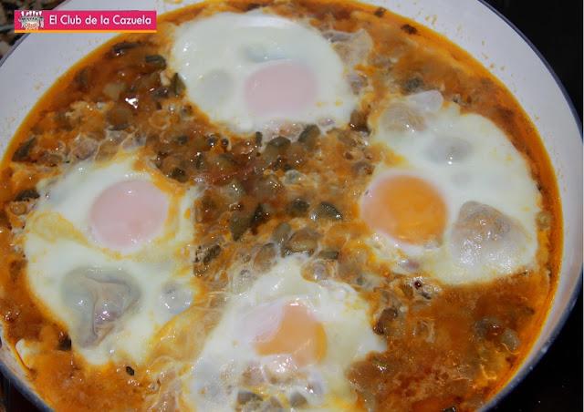 Cazuela huertana con huevo