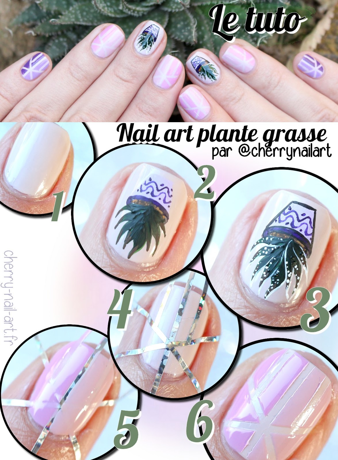tuto-nail-art-plante-grasse-géométrique-stripping-tape