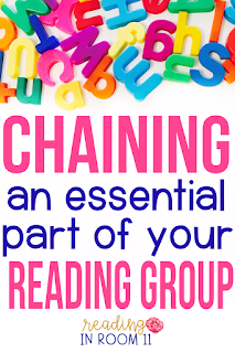 Word chaining is an essential part of your reading group!  I will show you step by step how to teach students to chain words.  Word chaining is a quick and easy phonics activity that you can use in your guided reading groups. It is critical to the success of struggling readers as well as kindergarteners and first graders learning to read.  Don't miss out on this post that also includes a freebie for you! {word work,small group reading,intervention groups,RtI,1st grade, 2nd grade}