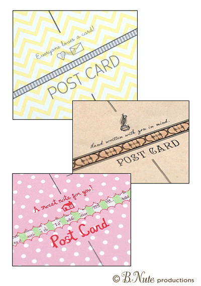 bnute productions Scrapbook Paper Ideas Perfect Postcards - printable postcard template free