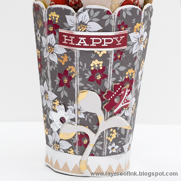 Layers of ink - Cranberry Christmas 3D Storage by Anna-Karin, with Sizzix dies by Eileen Hull and DCWV Cranberry Christmas
