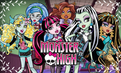 Gambar Mewarnai Monster High