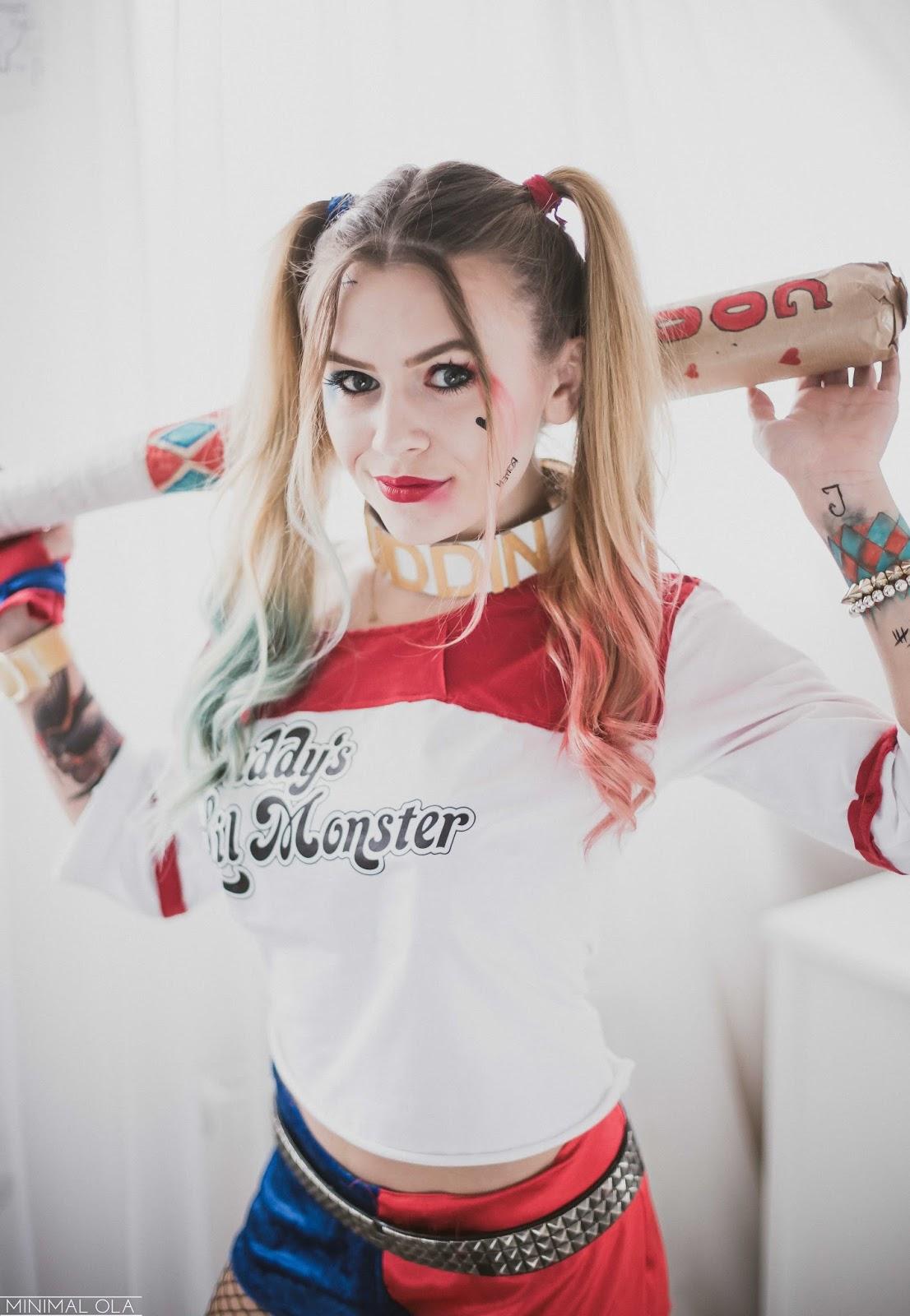 Minimal Ola Halloween Harley Quinn Diy