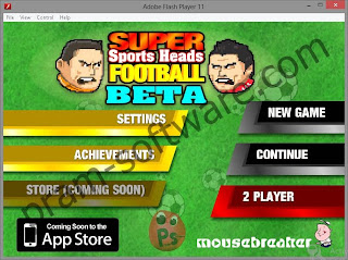 Bermain Game Flash di Adobe Flash Player