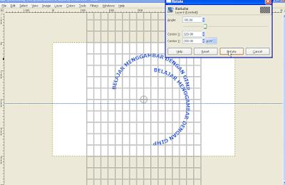 Cara Memutar Teks Melengkung di GIMP8