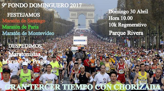 10k Fondo dominguero en parque Rivera (Montevideo, 30/abr/2017)
