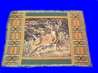 buck deer blanket throw tapestry afghan